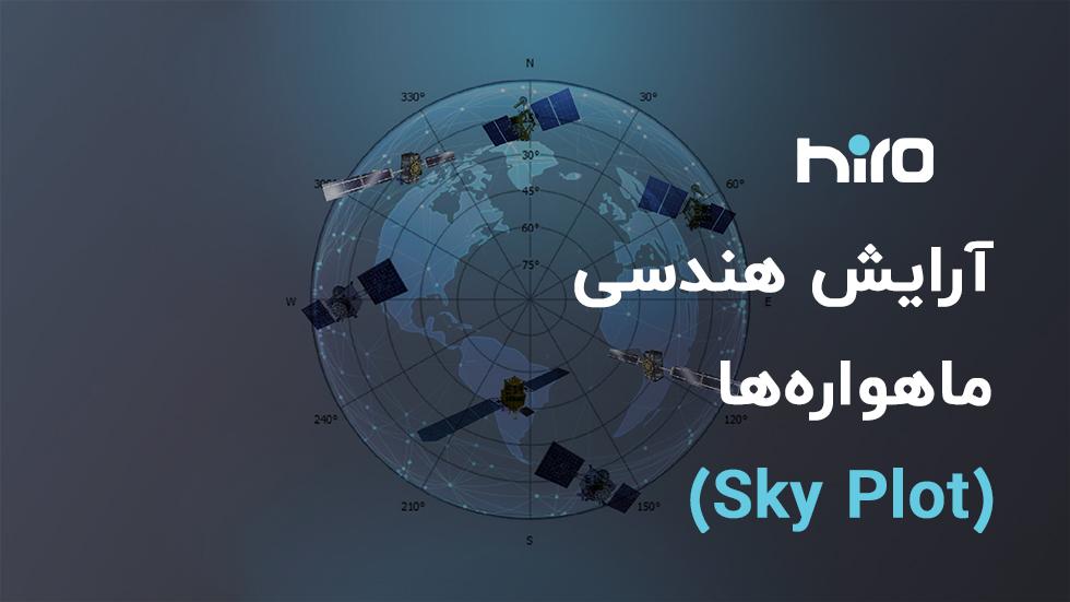 آرایش هندسی ماهواره ها skyplot